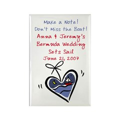 Boat Save the Date Rectangle Magnet (100 pack)