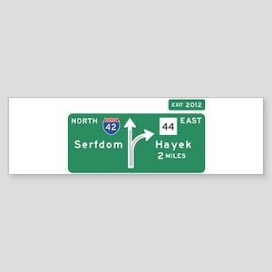 Road to Serfdom: Junction Sticker (Bumper)