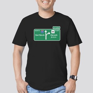 Road to Serfdom: Junction Men's Fitted T-Shirt (da