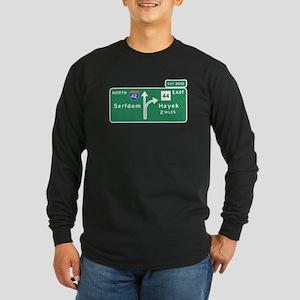 Road to Serfdom: Junction Long Sleeve Dark T-Shirt