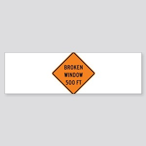 Broken Window Fallacy Sticker (Bumper)