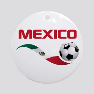 Soccer MEXICO Ornament (Round)