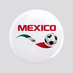 "Soccer MEXICO 3.5"" Button"