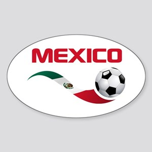 Soccer MEXICO Sticker (Oval)
