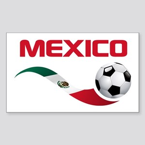 Soccer MEXICO Sticker (Rectangle)