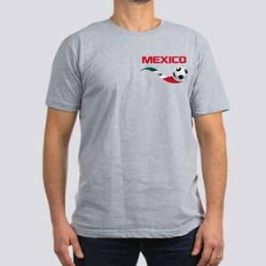Soccer MEXICO Pocket Size Men's Fitted T-Shirt (da