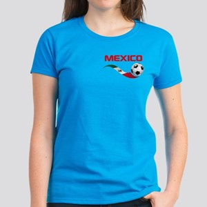 Soccer MEXICO Pocket Size Women's Dark T-Shirt