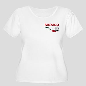 Soccer MEXICO Pocket Size Women's Plus Size Scoop