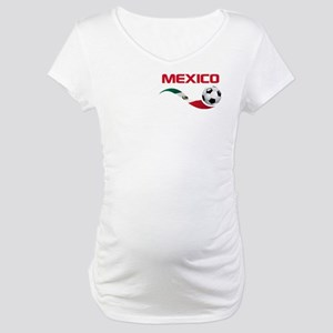 Soccer MEXICO Pocket Size Maternity T-Shirt