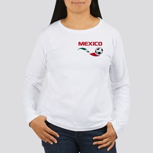 Soccer MEXICO Pocket Size Women's Long Sleeve T-Sh