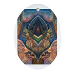 African Heart Oval Ornament