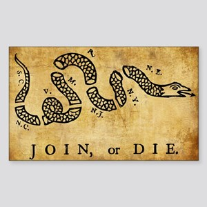 Join Or Die Sticker (rectangle)