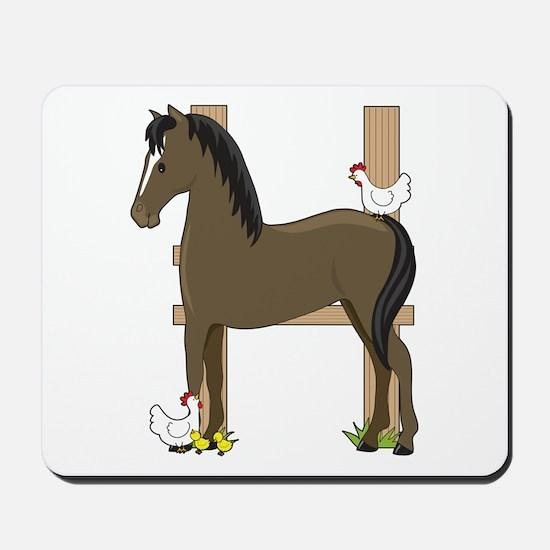 Animal Alphabet Horse Mousepad