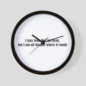 Ewok or Wookie? Wall Clock