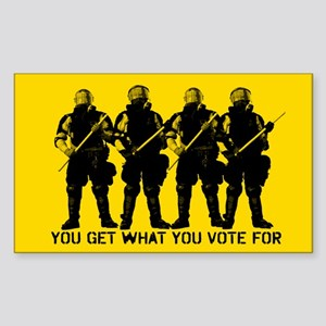 You Get What You Vote For Sticker (Rectangle)