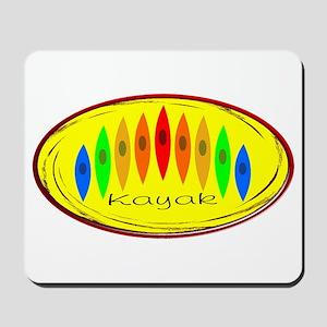 Kayak Rainbow (Yellow) Mousepad