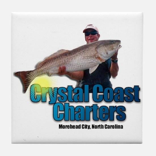 Crystal Coast Charters Tile Coaster