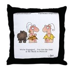 WE'RE ENGAGED! by April McCallum Throw Pillow