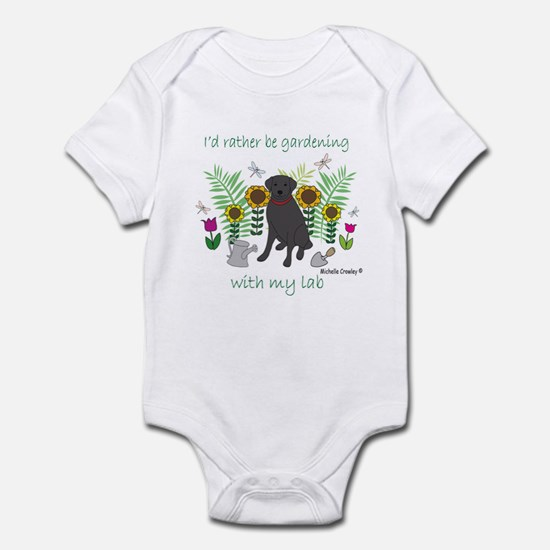 black lab Infant Bodysuit