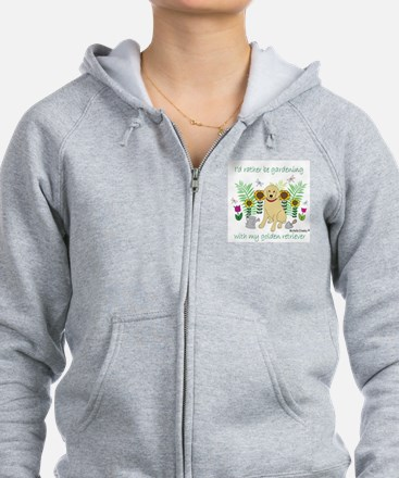 golden retriever Zip Hoody