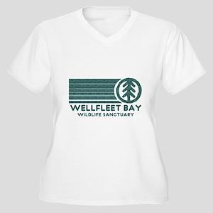 Wellfleet Bay Wildlife Sanctu Women's Plus Size V-