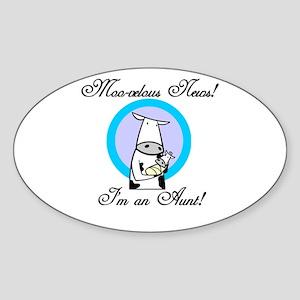 Moo-velous Aunt Sticker (Oval)