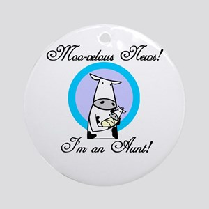 Moo-velous Aunt Ornament (Round)