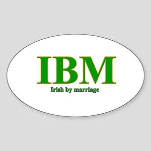 Irish by marriage Oval Sticker