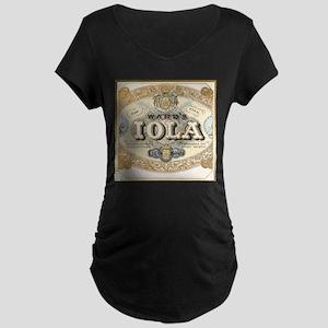Vintage Cigar Label Maternity Dark T-Shirt
