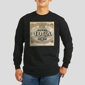 Vintage Cigar Label Long Sleeve Dark T-Shirt