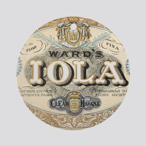 Vintage Cigar Label Ornament (Round)
