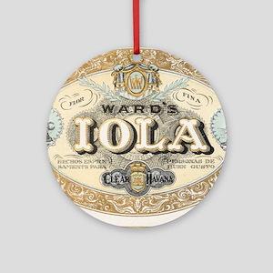 Vintage Cigar Label Ornament (Round)