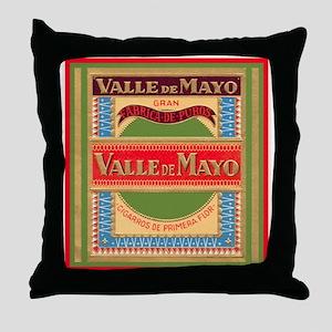 Vintage Cigar Label Throw Pillow