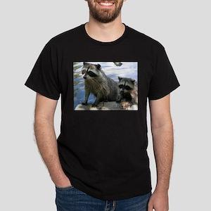 Racoon Buddies Black T-Shirt