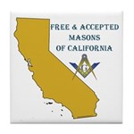Republic of California Masons Tile Coaster