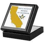 Republic of California Masons Keepsake Box