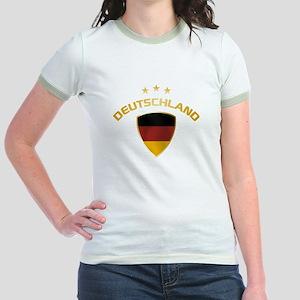 Soccer Crest DEUTSCHLAND gold Jr. Ringer T-Shirt
