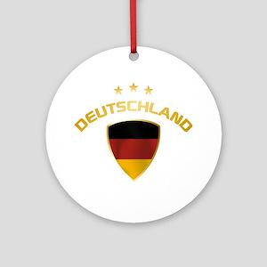 Soccer Crest DEUTSCHLAND gold Ornament (Round)