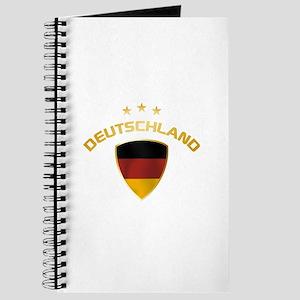 Soccer Crest DEUTSCHLAND gold Journal