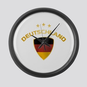 Soccer Crest DEUTSCHLAND gold Large Wall Clock