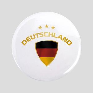 """Soccer Crest DEUTSCHLAND gold 3.5"""" Button"""