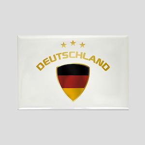 Soccer Crest DEUTSCHLAND gold Rectangle Magnet