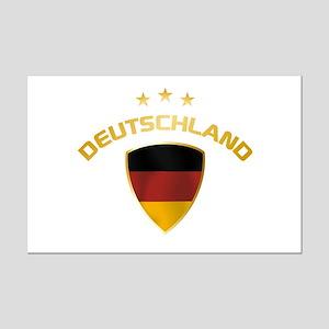 Soccer Crest DEUTSCHLAND gold Mini Poster Print