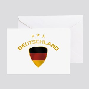Soccer Crest DEUTSCHLAND gold Greeting Cards (Pk o