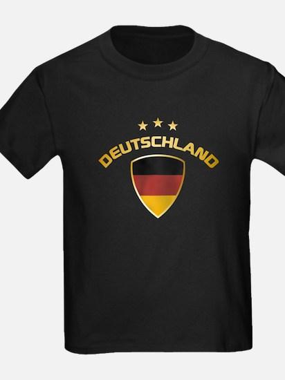 Soccer Crest DEUTSCHLAND gold T