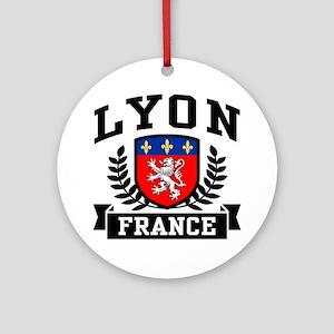 Lyon France Ornament (Round)