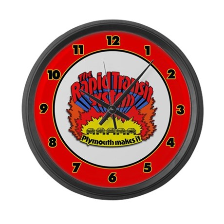 Rapid Transit System - Plymouth Large Wall Clock