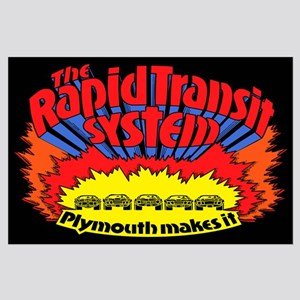 Rapid Transit System - Plymouth Large Poster