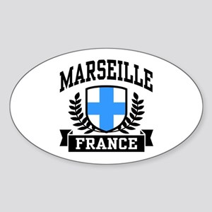 Marseille France Sticker (Oval)