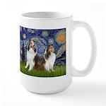Starry / Two Shelties (D&L) Large Mug